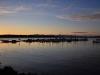 Inspiring sunset at Boston Harbor Marina