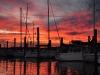 Awesone sunset from the docks at Boston Harbor Marina