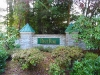 Monument at entry to Deer Run neighborhood in Poulsbo