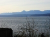 Near sunset view  Looking WSW from Lofall of the Olympic Mountains & Hood Canal in Winter