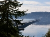 View of Hood Canal Briidge from Shine in Jefferson County toward Lofall in Kitsap County