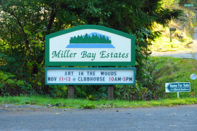 Entrance monument for Miller Bay Estates